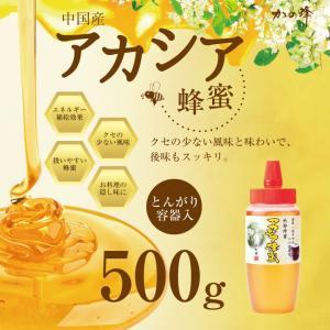 アカシア 蜂蜜 中国産 とんがり容器入り 500g はちみつ専門店 かの蜂|kanohachi