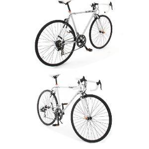 700C ロードバイク ホワイト (シマノ14段変速 ホリゾンタルフレーム スタンド 激安自転車 通販 dg-423)|kanon-web|04