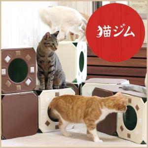 猫ジム 3BOX基本セット キャットタワー 省スペース 置き型 安い おしゃれ 据え置き 猫タワー トンネル キャットハウス|kanon-web