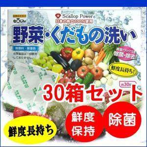 野菜洗い・くだもの洗い 30包×30箱(果物 農薬除去 除菌 安全 野菜洗浄 野菜くだもの洗い) kanon-web