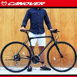 700C クロスバイク 470mm ブラック シマノ21段変速 軽量 アルミフレーム ライト  自転車 CANOVER カノーバー cac-021 kanon-web