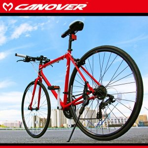 700C クロスバイク 470mm レッド シマノ21段変速 軽量 アルミフレーム ライト  自転車 CANOVER カノーバー cac-021 kanon-web