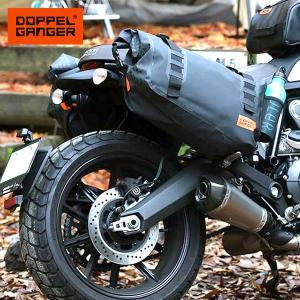 サイドバッグ バイク 防水 大容量 ドッペルギャンガー DOPPELGANGER ターポリンサイドバ...