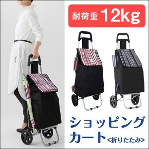 傘立てホルダーがついた嬉しい設計のショッピングカート。 折り畳み式+大容量で重たい荷物がらくらく運べ...