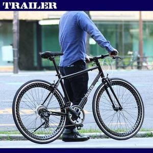 訳あり 700C クロスバイク ブラック シマノ6段変速 軽量 ディープリム 自転車 スタンド TR-C7001 kanon-web