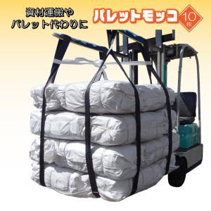 パレットモッコ 簡易モッコ サイズ 1.15×1.15m 10枚セット 最大荷重 1t 軽量 吊下げ ベルト 土木 倉庫 肥料袋 現場 建設 園芸 造園 運搬|kanryu