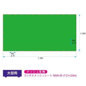 脱着式コンテナ用 コンテナメッシュシート 7.2m×3.6m