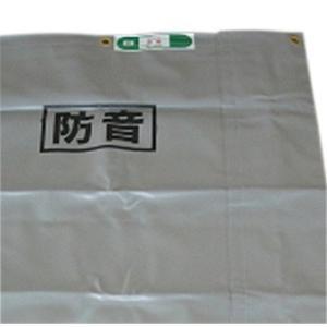 防音シート 遮音 工事用 土木 建築 シート 足場 ネット 灰色  グレー 国産  サイズ 1.8×3.4m 厚み1.0mm 2枚入|kanryu