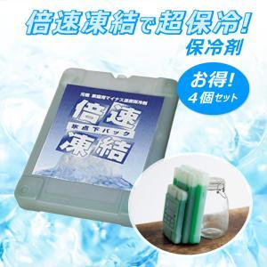 保冷剤 4個セット 倍速凍結で超保冷! 急速 冷却 暑さ 熱中症 対策 防災 グッズ  冷蔵庫 節電 サイズ 約195 × 255 × 35 mm|kanryu