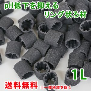 pH低下を抑える ろ材 リング バイオレジェンドBK 1L 関西化工|kansaikako