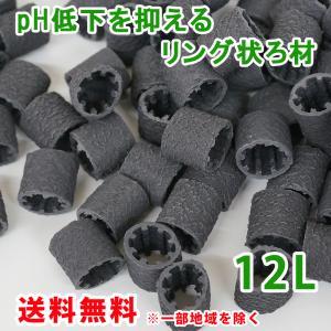 pH低下を抑える ろ材 リング バイオレジェンドBK 12L(3L×4) 関西化工|kansaikako