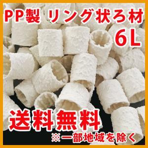 ろ材 担体  リング  PP製 バイオレジェンド UR 6L (3L×2袋) 関西化工|kansaikako