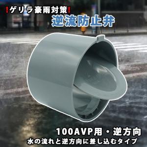 関西化工 ゲリラ豪雨 逆流 排管 逆流防止弁 100A VP用 逆方向|kansaikako