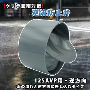 関西化工 ゲリラ豪雨 逆流 排管 逆流防止弁 125A VP用 逆方向|kansaikako