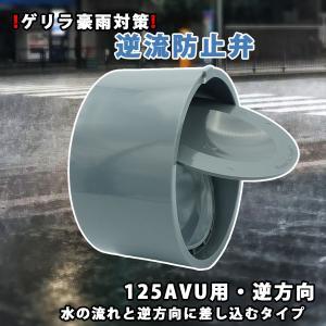 関西化工 ゲリラ豪雨 逆流 排管 逆流防止弁 125A VU用 逆方向|kansaikako