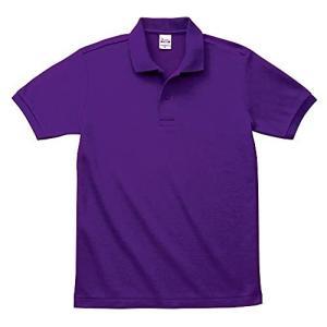 [プリントスター] 半袖 5.8オンス TC 鹿の子 ポロシャツ [ポケット無] 00141-NVP キッズ パープル 5L (日本サイズ5L相当)|kanta-store