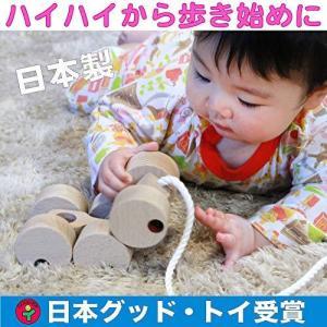 ??六輪車(ミニ)ハイハイから歩き始めの木のおもちゃ 知育玩具プルトーイ 日本グッド・トイ受賞 日本製|kanta-store