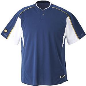 DESCENTE(デサント) 野球 2ボタンベースボールシャツ ホワイト×ゴールド XOサイズ DB104B|kanta-store