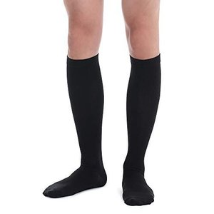 Fytto メンズ 着圧ソックス 着圧 ハイソックス 段階着圧設計 ビジネス ソックス むくみ解消 靴下 ブラック 男性 1067 L|kanta-store