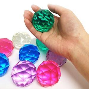 スーパーボール ダイヤモンド【大】(約49mm) 25個入  / お楽しみグッズ(紙風船)付きセット kanta-store