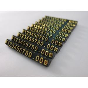 Tick Nick プライスキューブ プライスブロック プライスタグ 黒本体 白 金 文字 10セット (Sサイズ 金文字) kanta-store