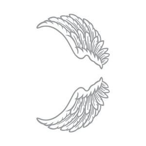 祭化粧 M184 天使の羽根・銀ミニ(8.7cm x 5cm) kanta-store