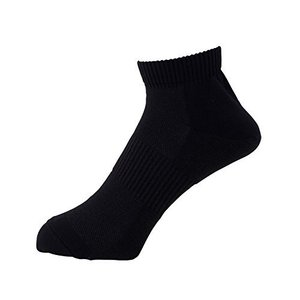[ミドリ安全] 靴下 高耐久 抗菌 防臭 強フィットソックス ショートタイプ TFS-02 メンズ ブラック 24.0~27.0 cm kanta-store