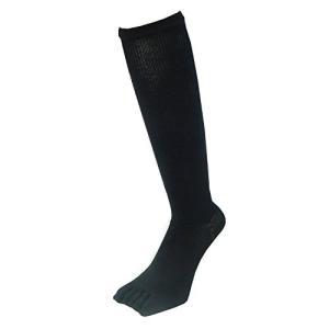 PAX-ASIAN 紳士・メンズ 五本指ハイソックス 着圧靴下 ムクミ解消 抗菌防臭 サポート 黒色・ブラック 3足組 #801|kanta-store