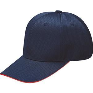 ZETT(ゼット) 野球用 帽子 タフデイズ 六方丸型 BH566 Dネイビー×レッド(2964) 61|kanta-store