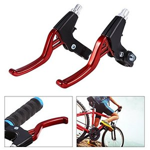 ブレーキレバー   自転車ブレーキレバー   アルミ合金製ブレーキレバー    使用幅広い  軽量   山地自転車/折りたたみ自転車用左右レバーセット|kanta-store