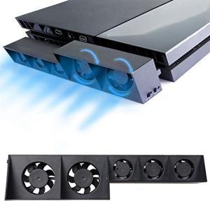 ElecGear PS4用自動冷却ファン、外付けターボUSBクーラーファン、PlayStation 4 CUH-1xxx用の自動温度センサー制御放熱|kanta-store