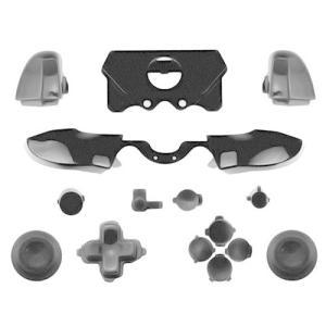 canamiteR Xbox One Elite コントローラー対応用 バンパー トリガー ボタン一式 交換パーツ プラスチック製 (ブラック)|kanta-store