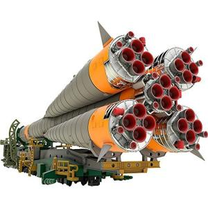 1/150プラスチックモデル ソユーズロケット+搬送列車 1/150スケール PS製 組み立て式プラスチックモデル|kanta-store