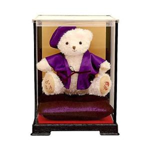 【プティルウ】喜寿に贈る、紫ちゃんちゃんこを着た福ベア(ケース) 喜寿|kanta-store