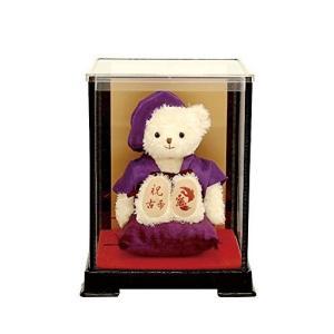 【プティルウ】古希に贈る、紫ちゃんちゃんこを着たお祝いテディべア(ケース)|kanta-store