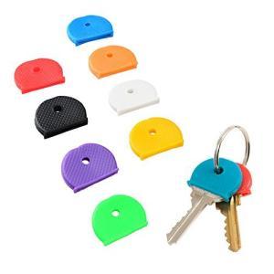 Pawfly キーキャップカバーリング 32個 8種類の色 キー識別子タグカバー|kanta-store