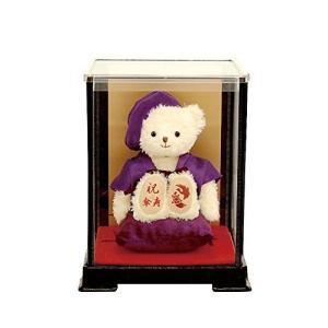 【プティルウ】傘寿に贈る、紫ちゃんちゃんこを着たお祝いテディベア(ケース)|kanta-store