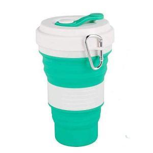 Inchant折りたたみトラベルカップ - シリコーン折りたたみコーヒーカップ(17オンス)、キャンプハイキングアウトドアスポーツのための大規模なポー|kanta-store