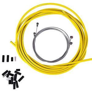 自転車 シフトケーブル ブレーキケーブルセット ブレーキワイヤー ライン 汎用性 自転車パーツ セット 自転車 交換用 (Yellow)|kanta-store