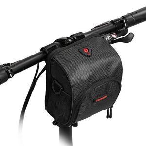 Rhinowalk 自転車 防水 フロントバッグ ハンドルバッグ フレームバッグ サイドバッグ (ブラック) kanta-store