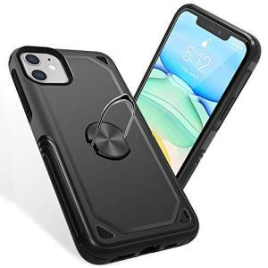 iPhone 11 ケース リング付き 耐衝撃 TPU クリア 薄型 指紋防止 全面保護 米軍MIL規格取得 スタンド機能 スクラブ 防塵デザイン 薄|kanta-store