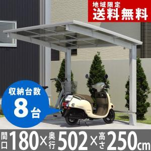 サイクルポート 自転車置場 DIY カムフィエース ミニ 5018 H25 三協アルミ|kantoh-house
