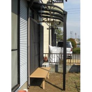 アルミテラス屋根 ヴェクター テラス屋根 YKK アール 1.5間3尺 柱標準タイプ 600N エクステリア|kantoh-house