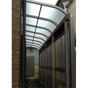 アルミテラス屋根 ヴェクターテラス屋根 YKK アール 2.5間4尺 柱標準タイプ 600N|kantoh-house