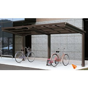 サイクルポート 自転車置場 サイクリン オープンタイプH1800 ポリカーボネート屋根|kantoh-house