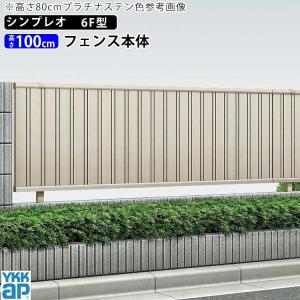 アルミフェンス 囲い 形材フェンス たて目隠し 6型 T100 本体 地域限定送料無料 ガーデン DIY 塀 壁 エクステリア|kantoh-house