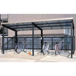 サイクルポート 自転車置場 サイクリン クローズタイプH1800 ポリカーボネート屋根|kantoh-house