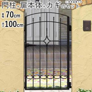 門扉 プロヴァンス門扉 片開き 門柱タイプ 0710 2型 三協立山アルミ|kantoh-house