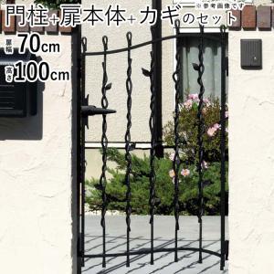 門扉 プロヴァンス門扉 片開き 門柱タイプ 0710 6型 三協立山アルミ|kantoh-house