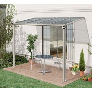 アルミテラス屋根 ヴェクターテラス屋根 YKK フラット 2.0間3尺 柱標準タイプ 600N エクステリア|kantoh-house